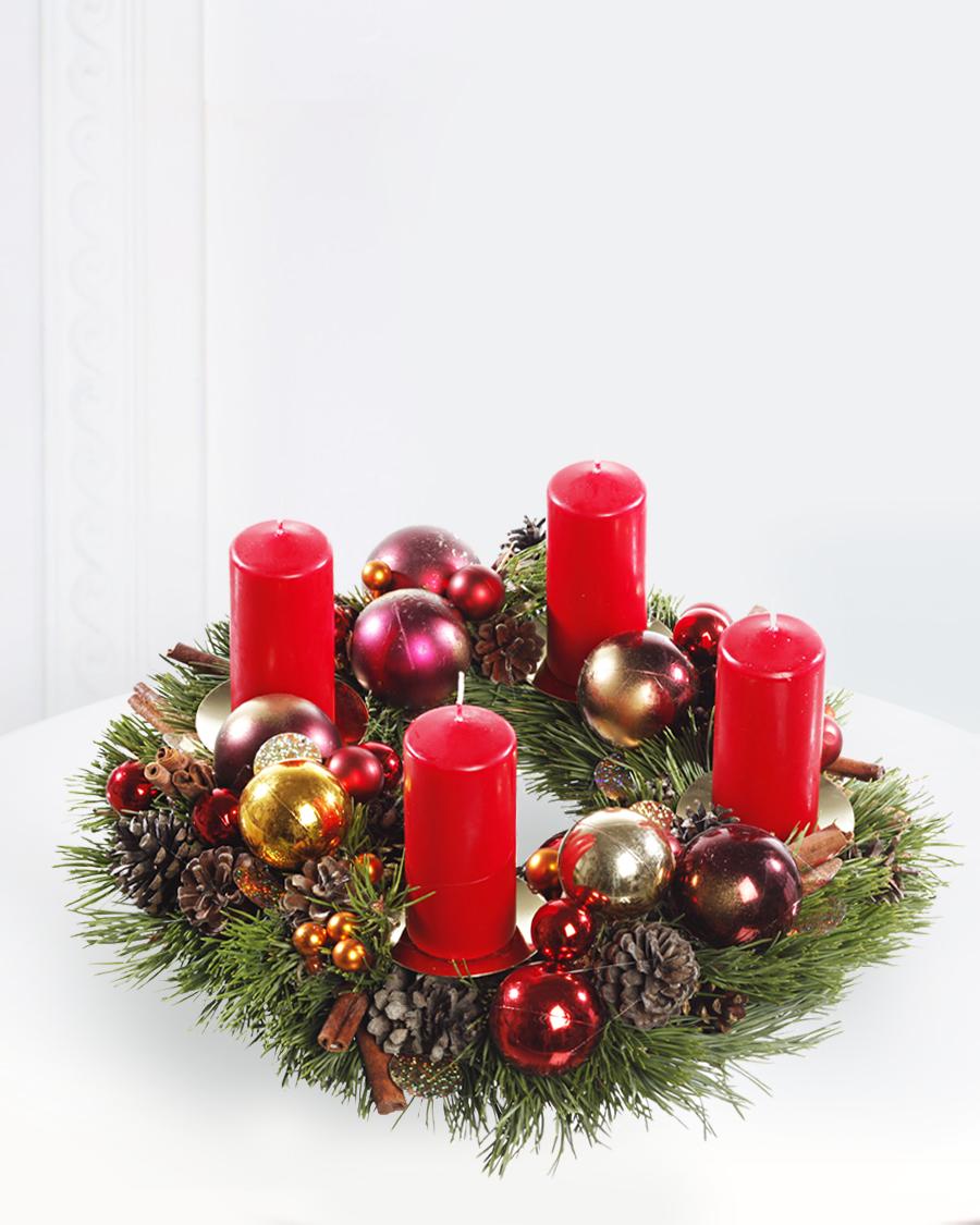 Jõulupärg küünaldega