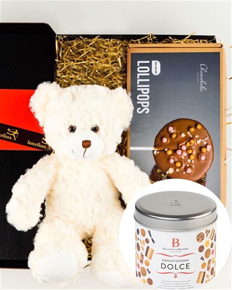 Teddybear, lollypop making kit, cookies, balloon (ONLY TALLINN)