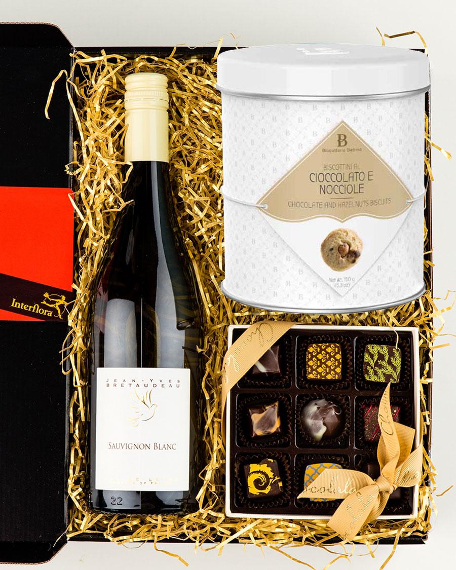 Loire Valley Sauvignon Blanc valge vein, käsitöökommikarp ja gurmeeküpsised