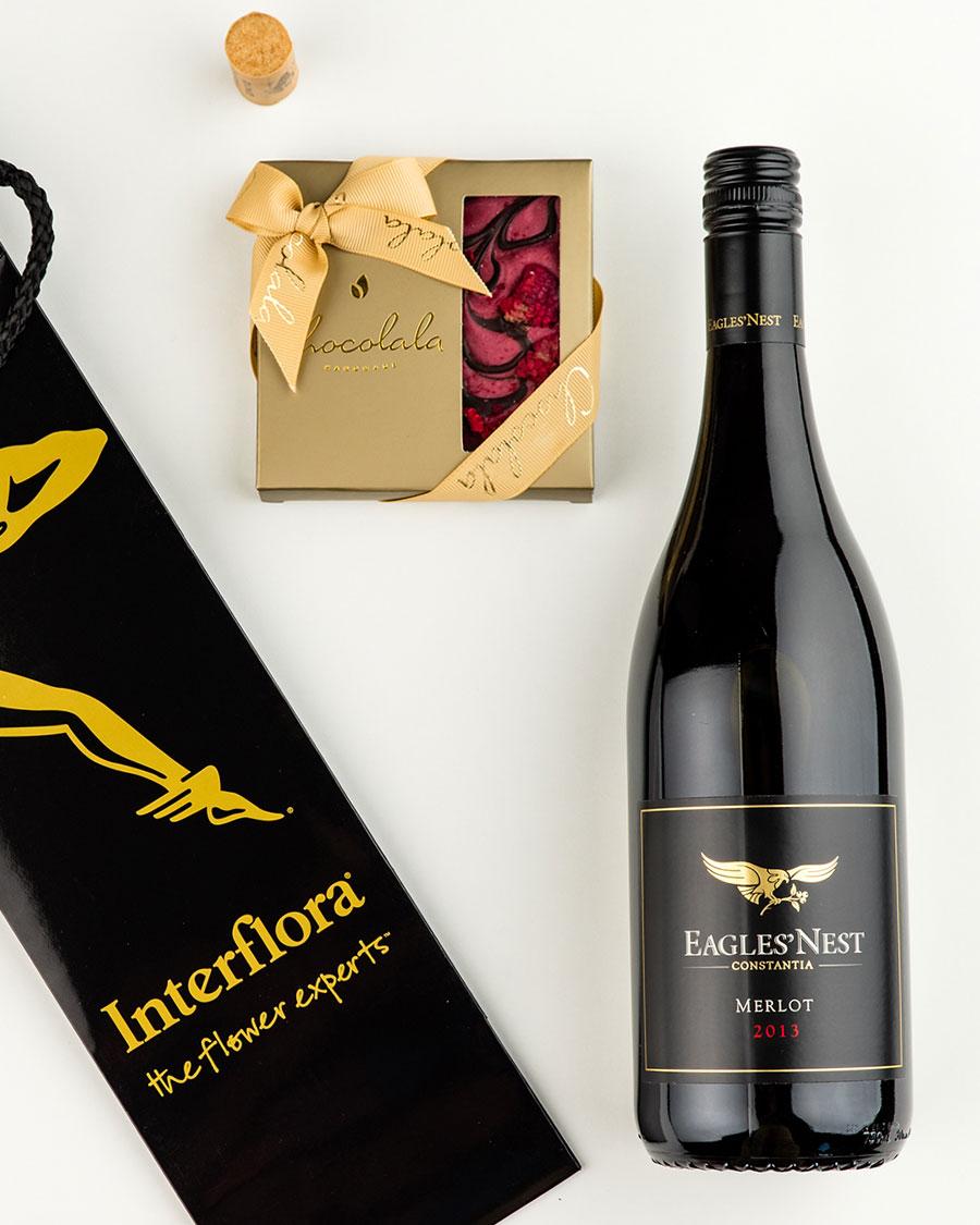Kinkekott Eagle´s Nest punase veini ja tumeda šokolaadi vaarikatahvliga