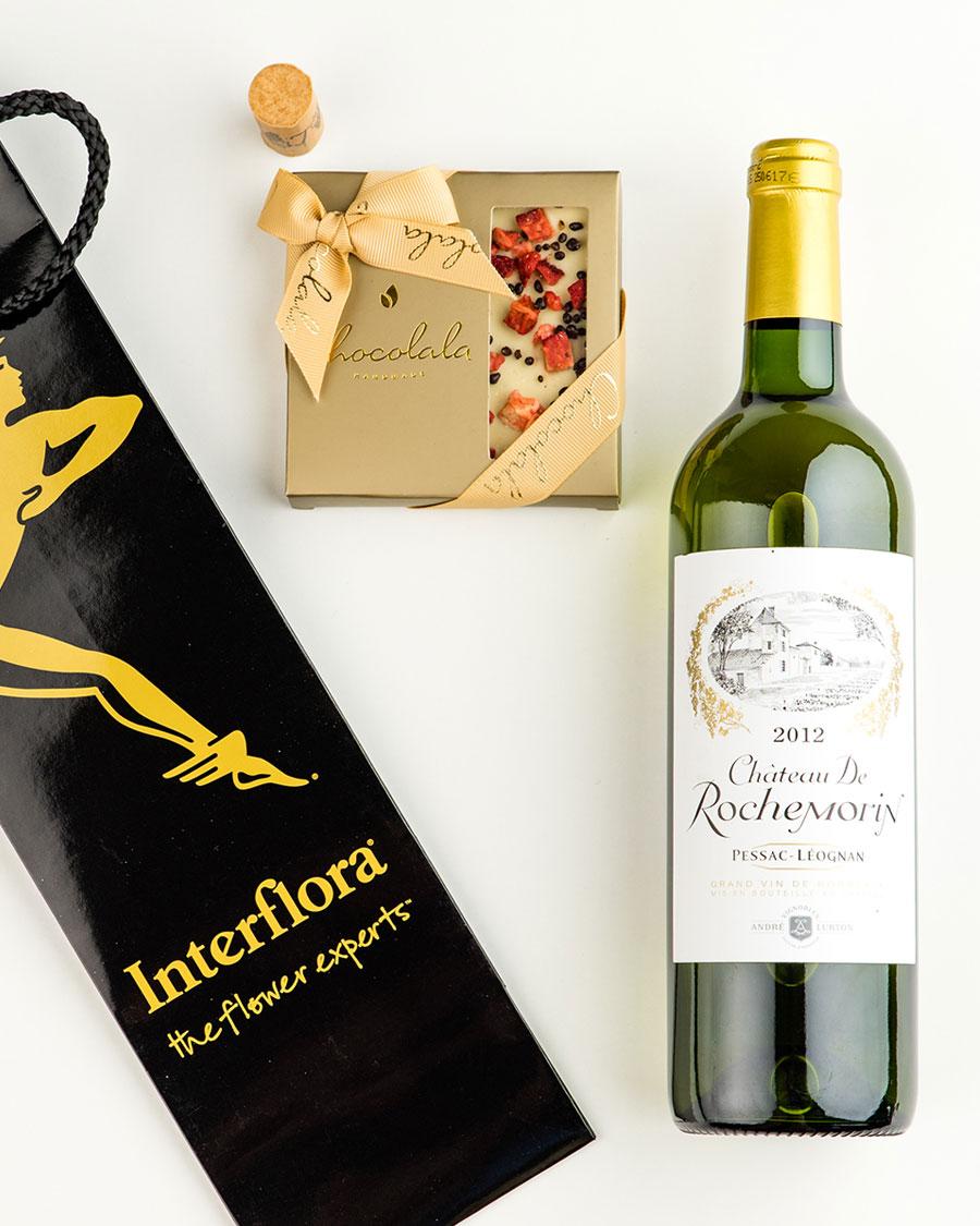 Kinkekott Rochemorin valge veini ja maasikatahvliga