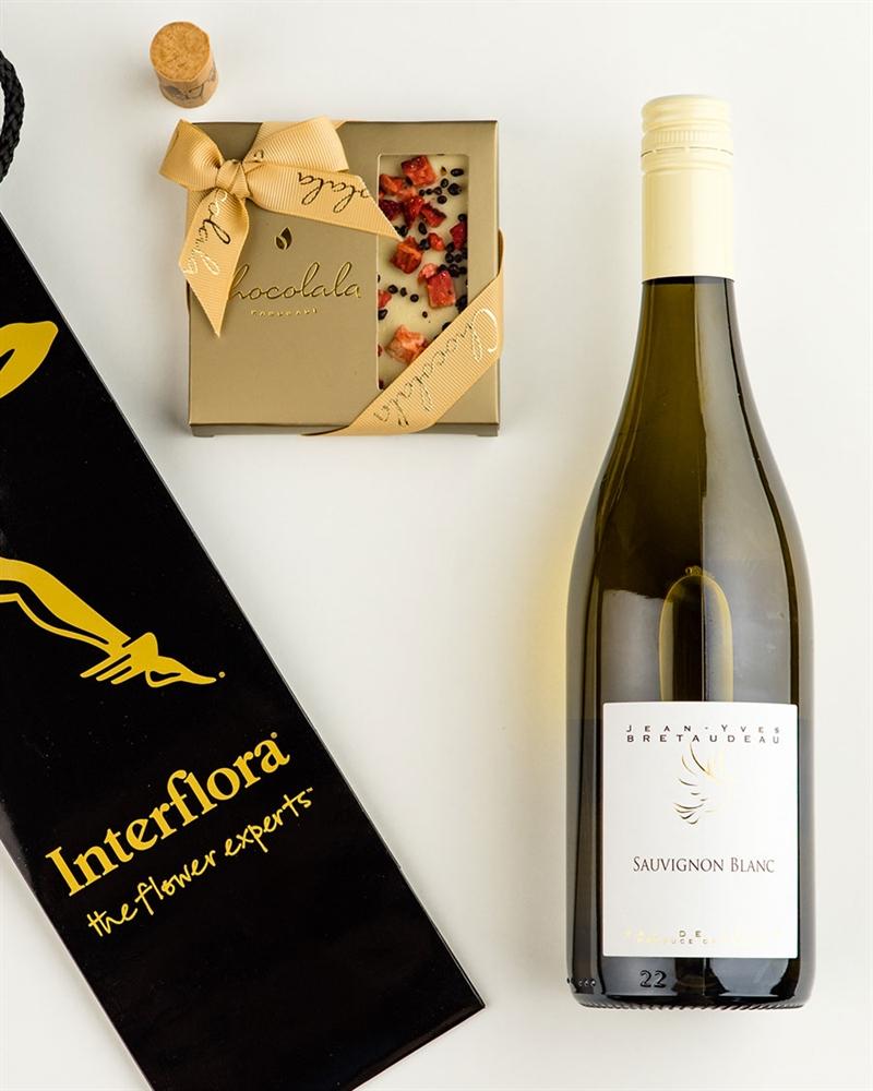 Kinkekott Loire Valley Sauvignon Blanc valge veini ja maasikatahvliga