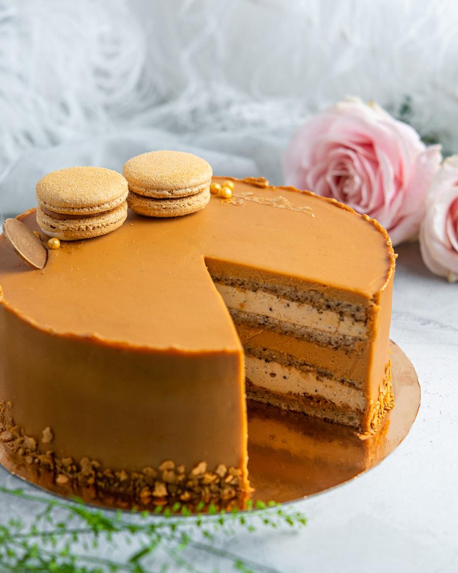 Earl Grey ja soolakaramelli tort