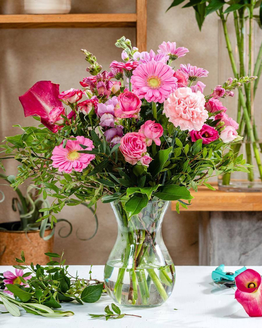 Rõõmus & roosa – floristi fantaasia